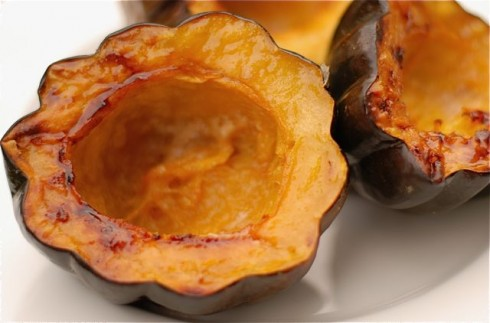 Maple Syrup Baked Acorn Squash