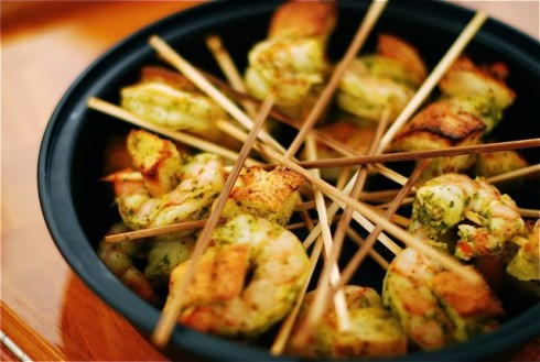 Shrimp Lollipops