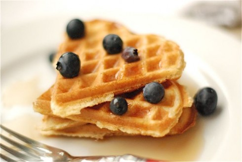 Heart shaped waffles