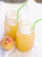 Roasted Peach Lemonade