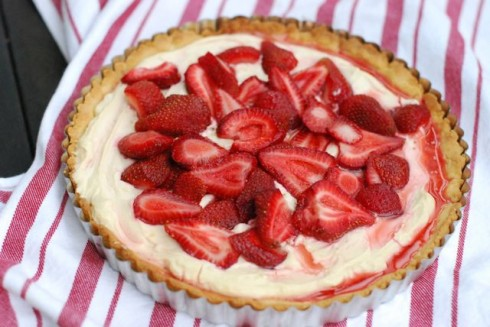Strawberry Lemon Cream Tart