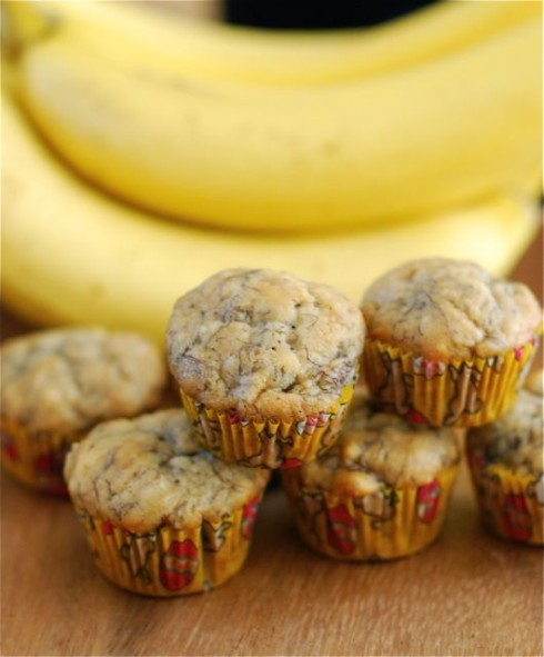 Banana Muffins via The Naptime Chef