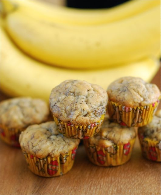 Mini Banana Bread Muffins for School