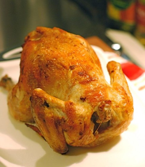 Roast Chicken with Paprika and Shallots