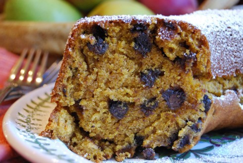 Pumpkin Chocolate Chip Bread via The Naptime Chef
