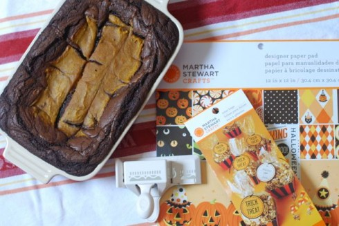 Pumpkin Swirl Blondies via The Naptime Chef