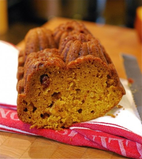 Pumpkin Cranberry Quick Bread via The Naptime Chef