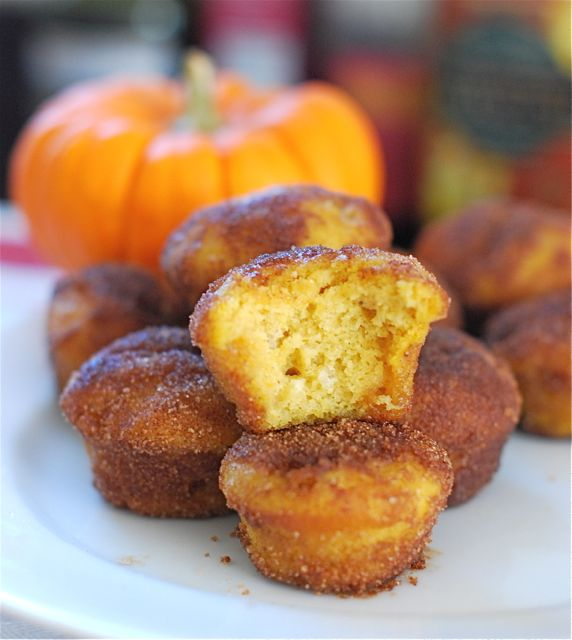 Baked Pumpkin Donut Holes - The Naptime Chef