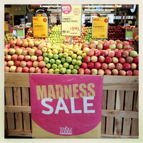 Madness Sales at Whole Foods save money