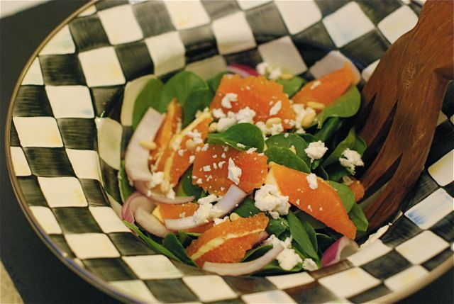 Cara Cara Spinach & Goat Cheese Salad