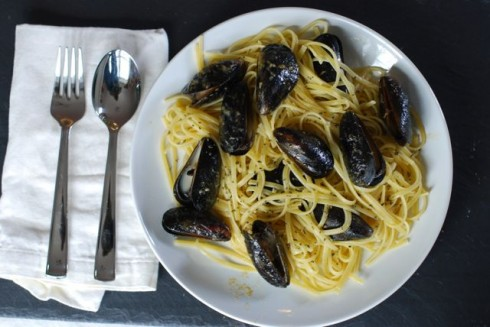 Mussels with Linguine