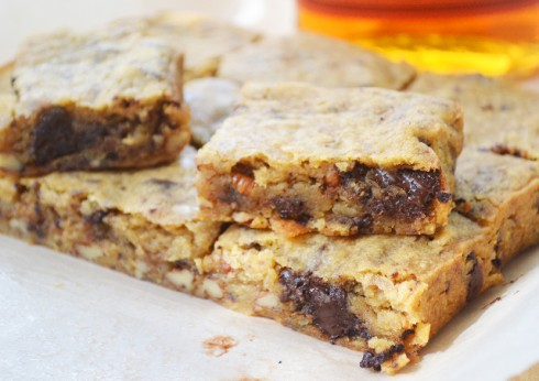 Rolling Spoon Bourbon Blondies