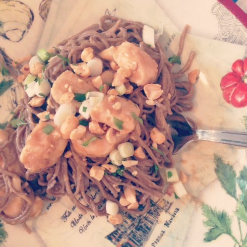 Peanut Butter Noodles with Chicken