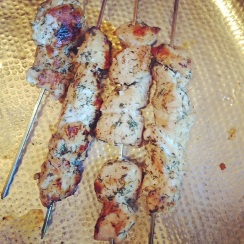 Greek Chicken Skewers