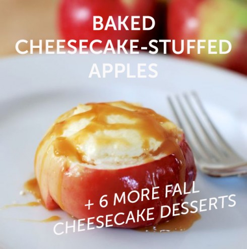 Baked Cheesecake in an Apple